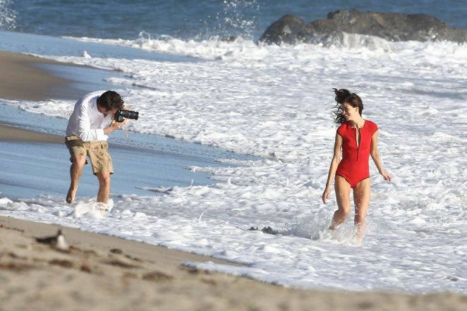 Michelle Monaghan on photoshoot at the beach -49