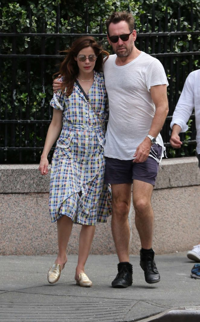 Michelle Monaghan with her husband out in New York City