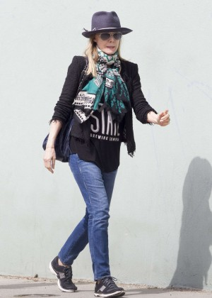 Michelle Pfeiffer in Jeans out in Santa Monica