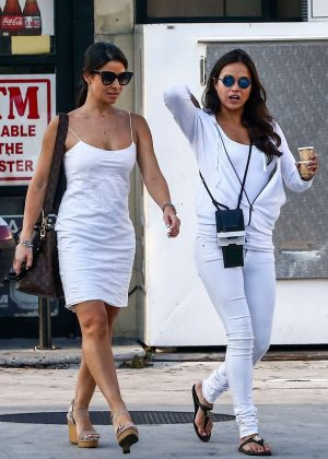 Michelle Rodriguez and her friend - Out in Miami