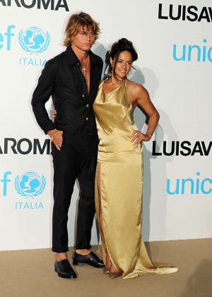 Michelle Rodriguez and Jordan Barrett - 2018 UNICEF Gala in Porto Cerv