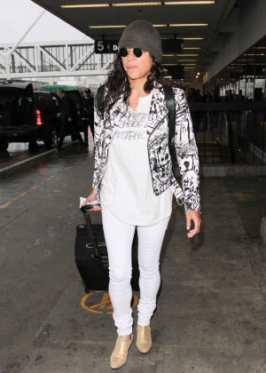 Michelle Rodriguez - Arrives at LAX Airport in Los Angeles