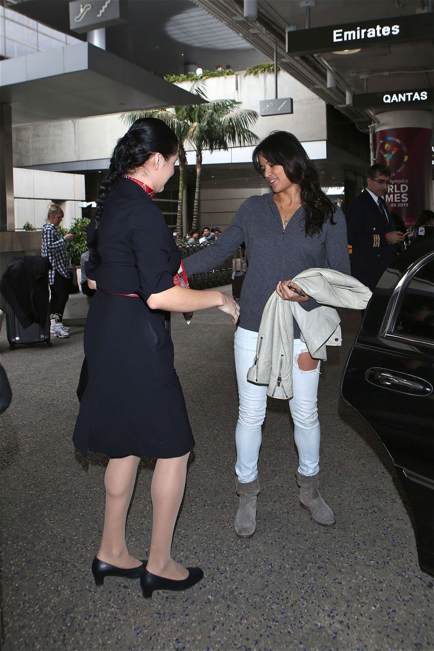 Michelle Rodriguez 2015 : Michelle Rodriguez in Jeans at LAX -09
