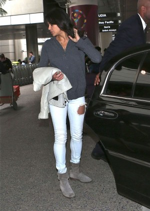 Michelle Rodriguez - Arrives at Los Angeles International Airport