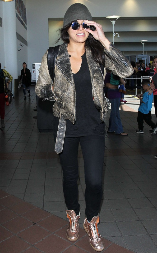 Michelle Rodriguez at LAX Airport in LA