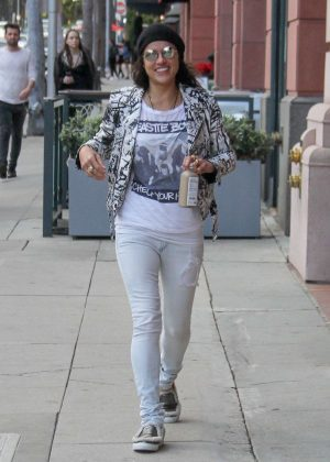 Michelle Rodriguez at Pressed Juicery in Beverly Hills