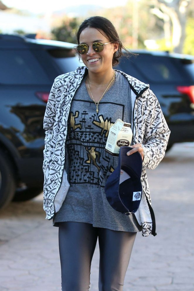 Michelle Rodriguez at Tracy Anderson Gym in Brentwood