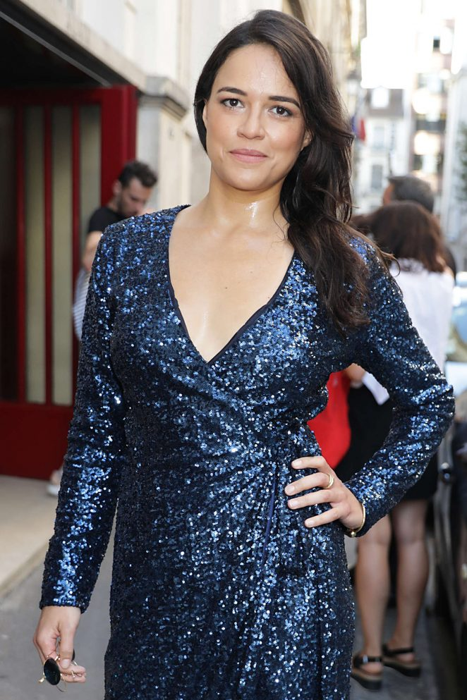 Michelle Rodriguez - Azzedine Alaia Fashion Show 2017 in Paris