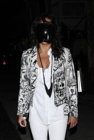 Michelle Rodriguez - Exits Giorgio Baldi after enjoying dinner in Santa Monica