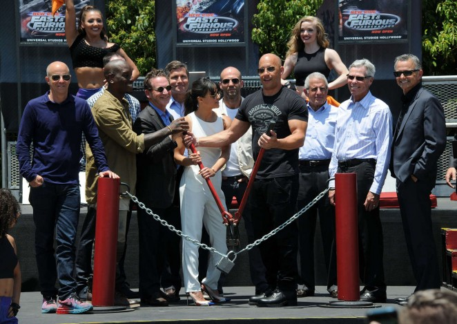Michelle Rodriguez: Fast and Furious Supercharged Premiere -06