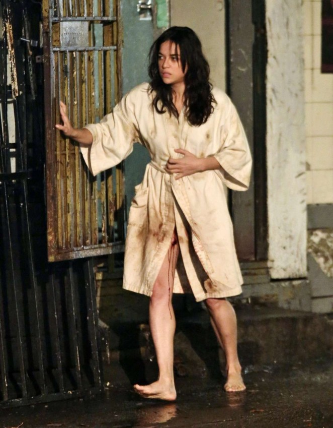 Michelle Rodriguez – Filming 'Tomboy, A Revenger's Tale'