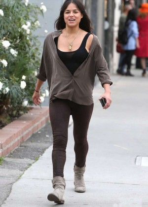 Michelle Rodriguez in Tights out in Beverly Hills