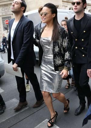 Michelle Rodriguez - Jean Paul Gaultier Fashion Show in Paris