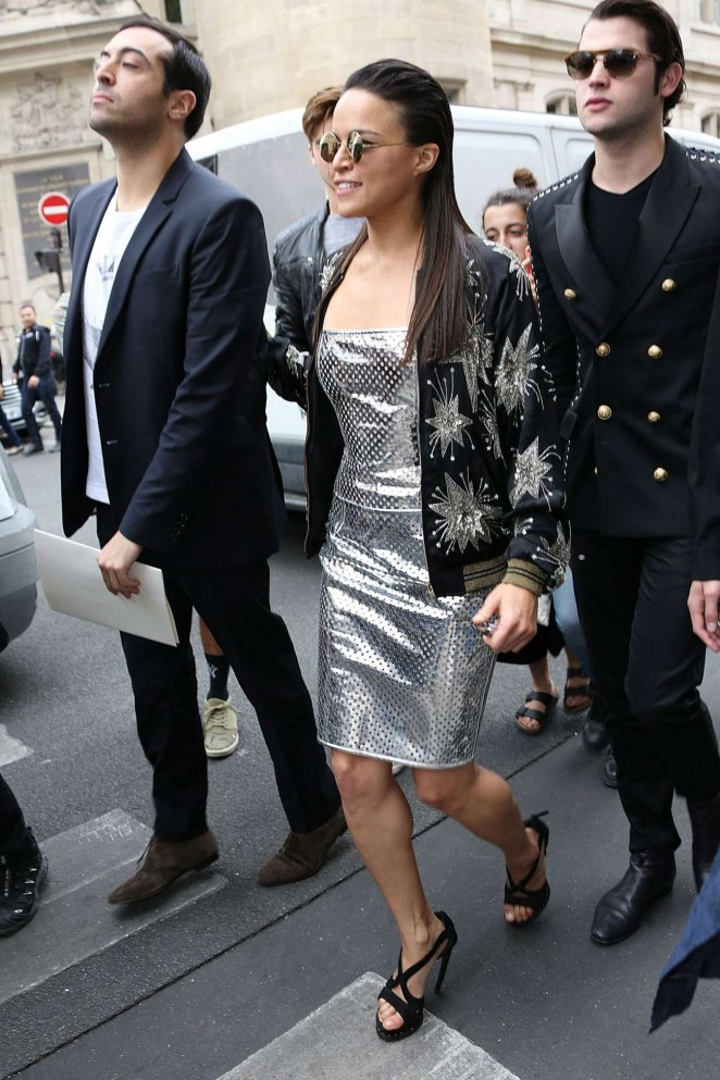 Michelle Rodriguez – Jean Paul Gaultier Fashion Show in Paris