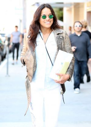 Michelle Rodriguez Leaves a salon in Beverly Hills