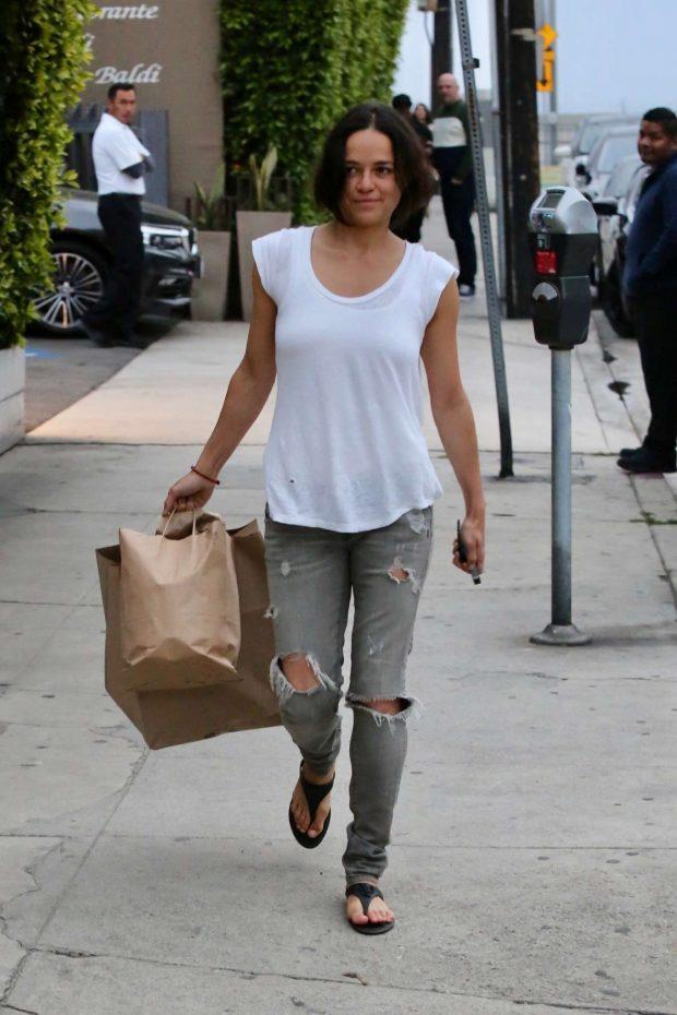 Michelle Rodriguez: Leaves Giorgio Baldi -04