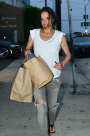 Michelle Rodriguez - Leaves Giorgio Baldi in Santa Monica