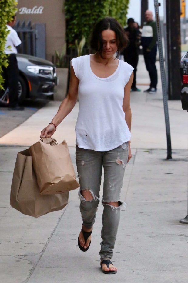 Michelle Rodriguez: Leaves Giorgio Baldi -13