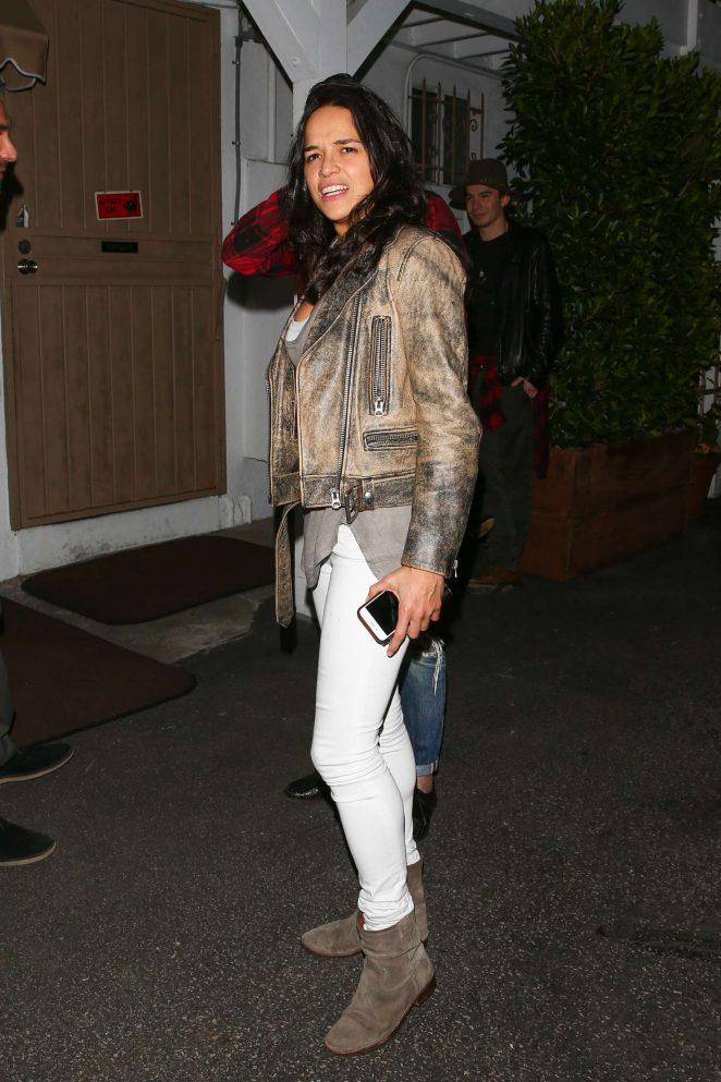 Michelle Rodriguez: Leaves Giorgio Baldi restaurant -10
