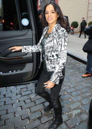 Michelle Rodriguez - Leaves her hotel in New York City