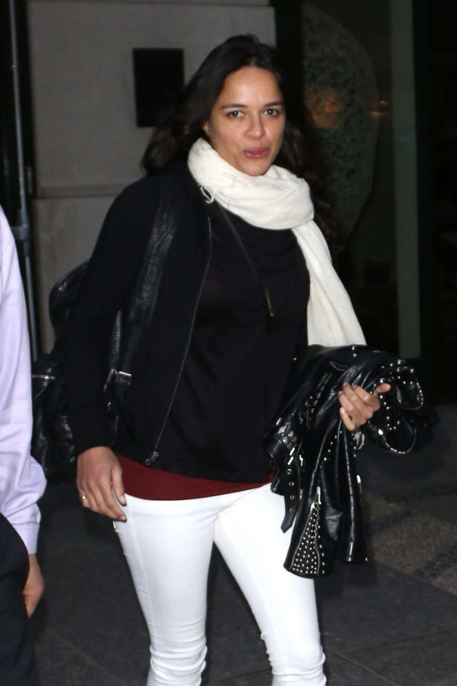 Michelle Rodriguez Leaves the Crosby Hotel in New York City