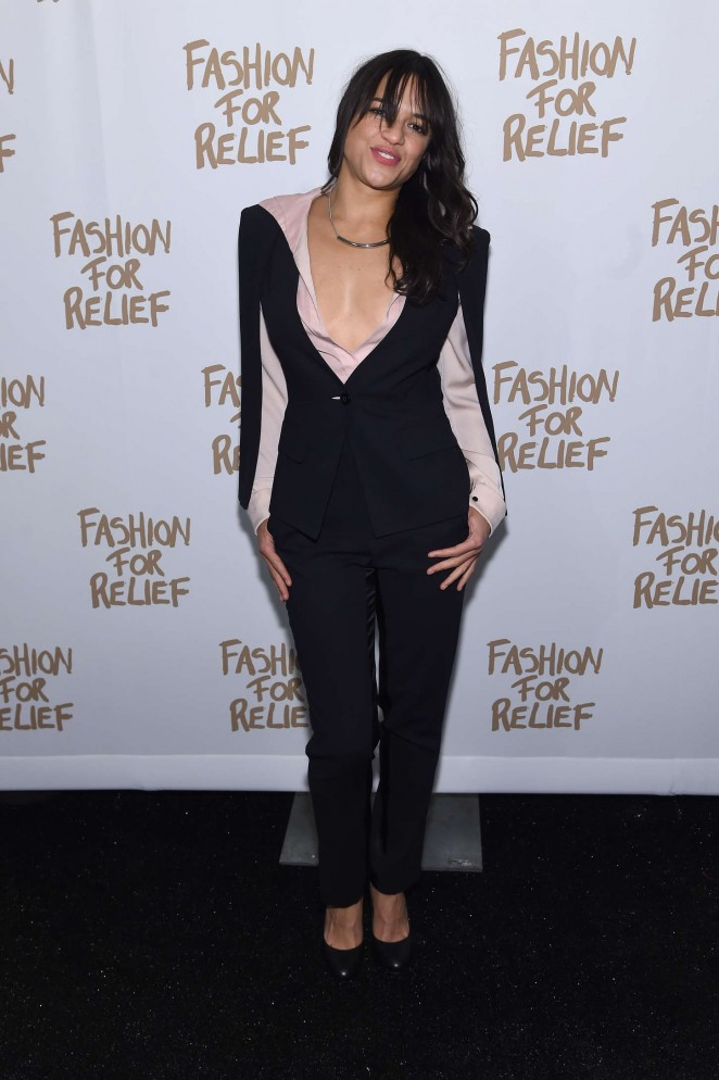 Michelle Rodriguez: Naomi Campbell Fashion For Relief -01