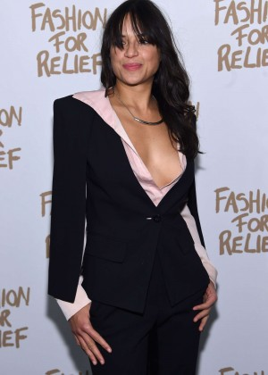 Michelle Rodriguez - Naomi Campbell's Fashion For Relief Charity Fashion Show in NYC