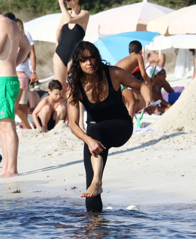 Michelle Rodriguez on Vacation in Formentera