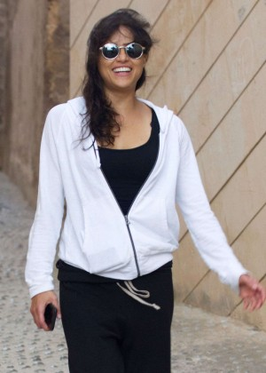 Michelle Rodriguez - Out and about in Ibiza