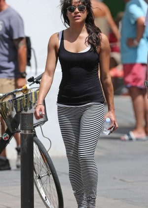 Michelle Rodriguez in Tights Out in Ibiza