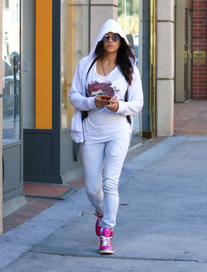 Michelle Rodriguez out in Los Angeles