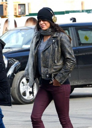Michelle Rodriguez in Tight Jeans out in NYC