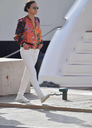 Michelle Rodriguez - Out in St Tropez