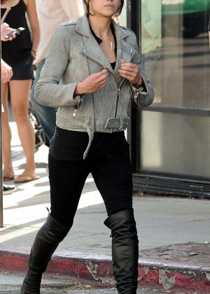 Michelle Rodriguez out on Abbot Kinney Boulevard in Venice