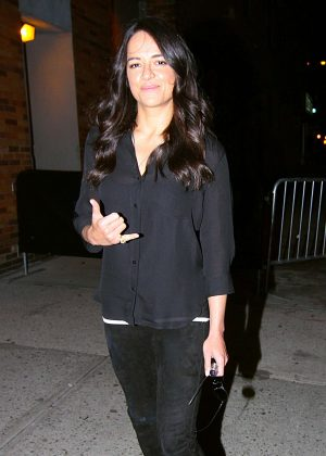 Michelle Rodriguez - Promoting her new film 'Fate And The Furious' in NY