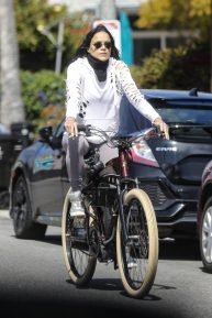 Michelle Rodriguez - Rides a bike during COVID-19 pandemic in Los Angeles