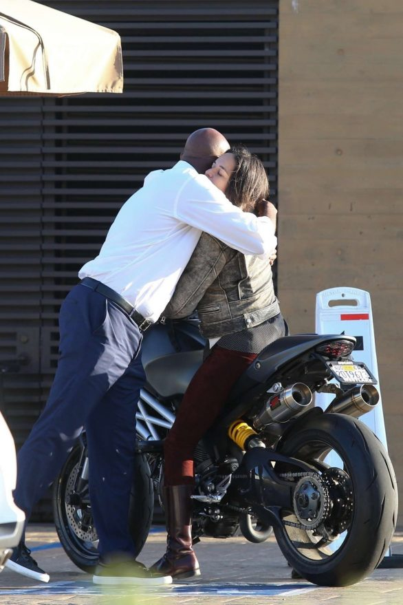 Michelle Rodriguez 2019 : Michelle Rodriguez – Riding her motorcycle in Malibu-01