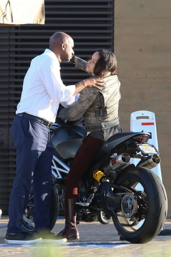 Michelle Rodriguez 2019 : Michelle Rodriguez – Riding her motorcycle in Malibu-04