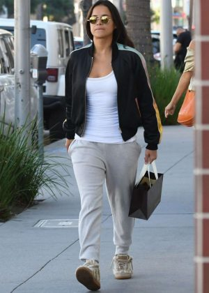 Michelle Rodriguez - Shopping candids at Morgenthal Frederics In Beverly Hills