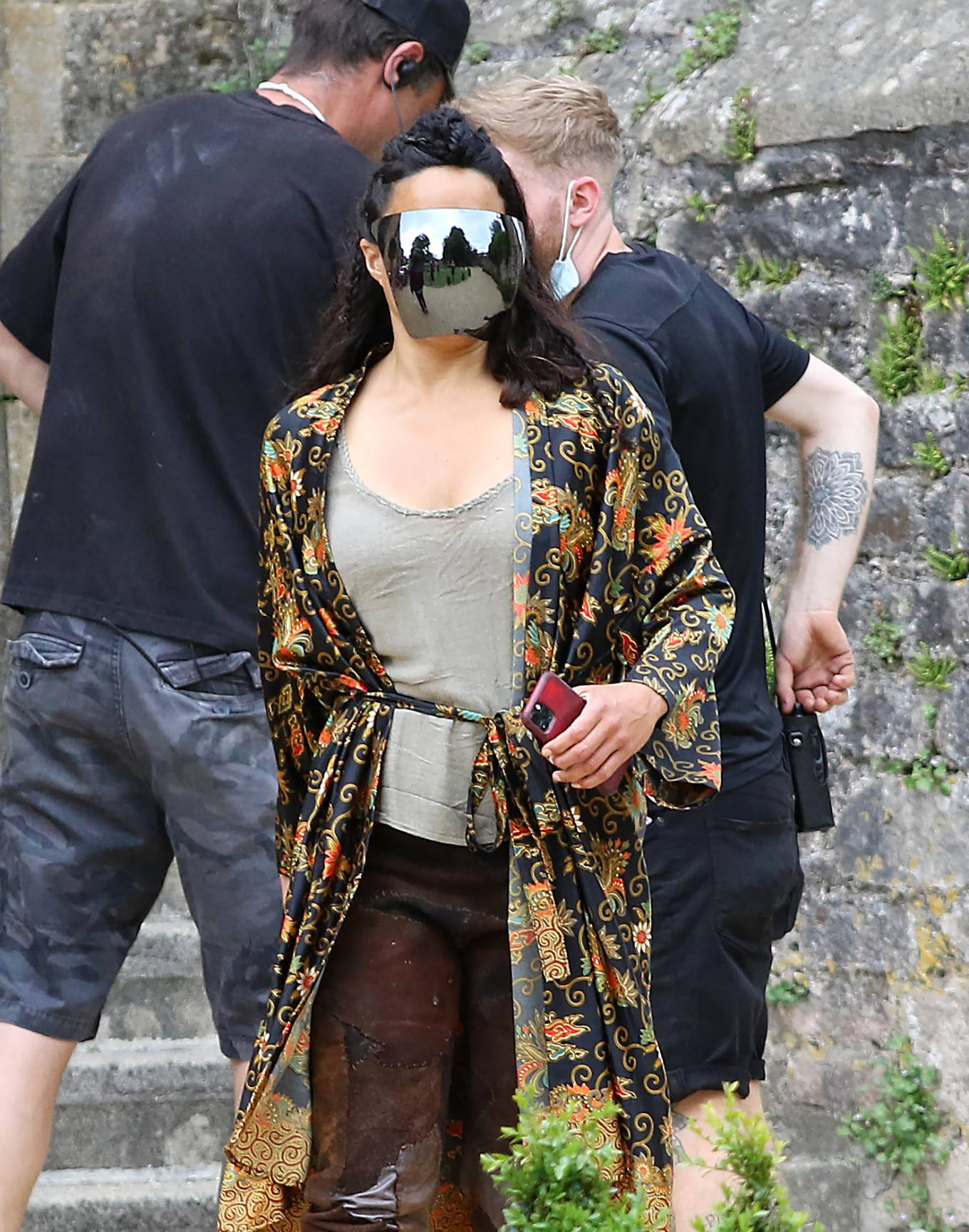 Michelle Rodriguez - Spotted on the set of 'Dungeons and Dragons' at Wells Cathedral in Somerset