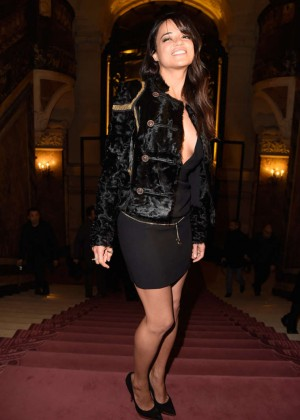 Michelle Rodriguez - Versace Fashion Show 2015 in Paris