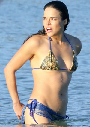 Michelle Rodriguez in Bikini in Porto Cervo