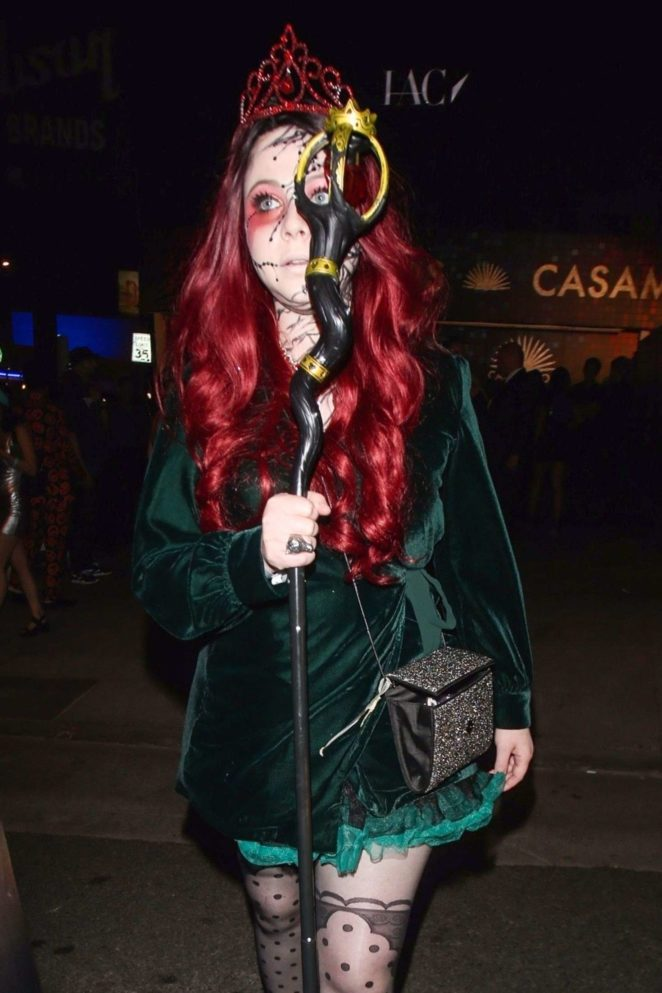 Michelle Trachtenberg - Exits the Casamigos Halloween Party in Los Angeles