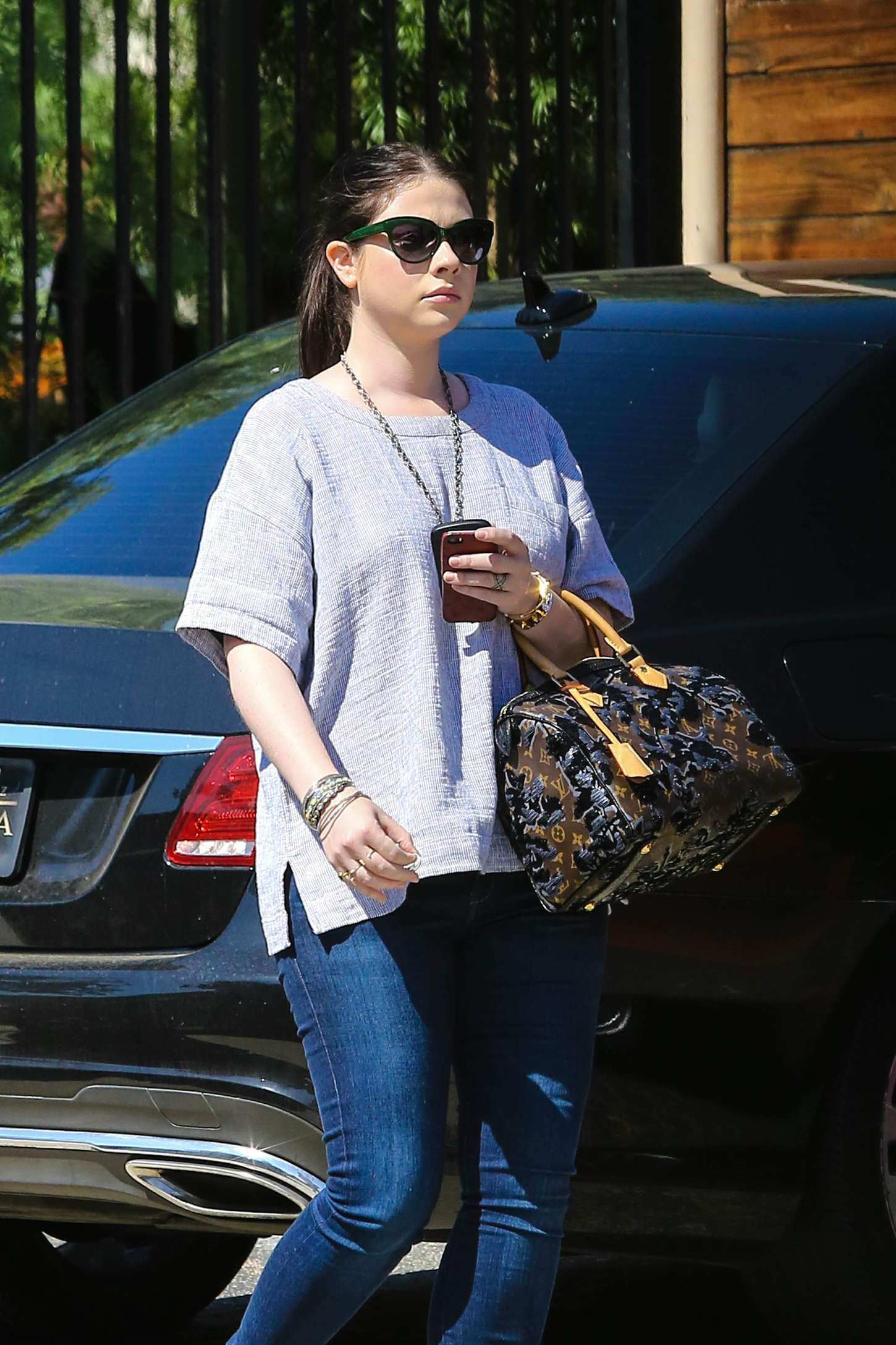 Michelle Trachtenberg in Jeans at Gracias Madre in West Hollywood