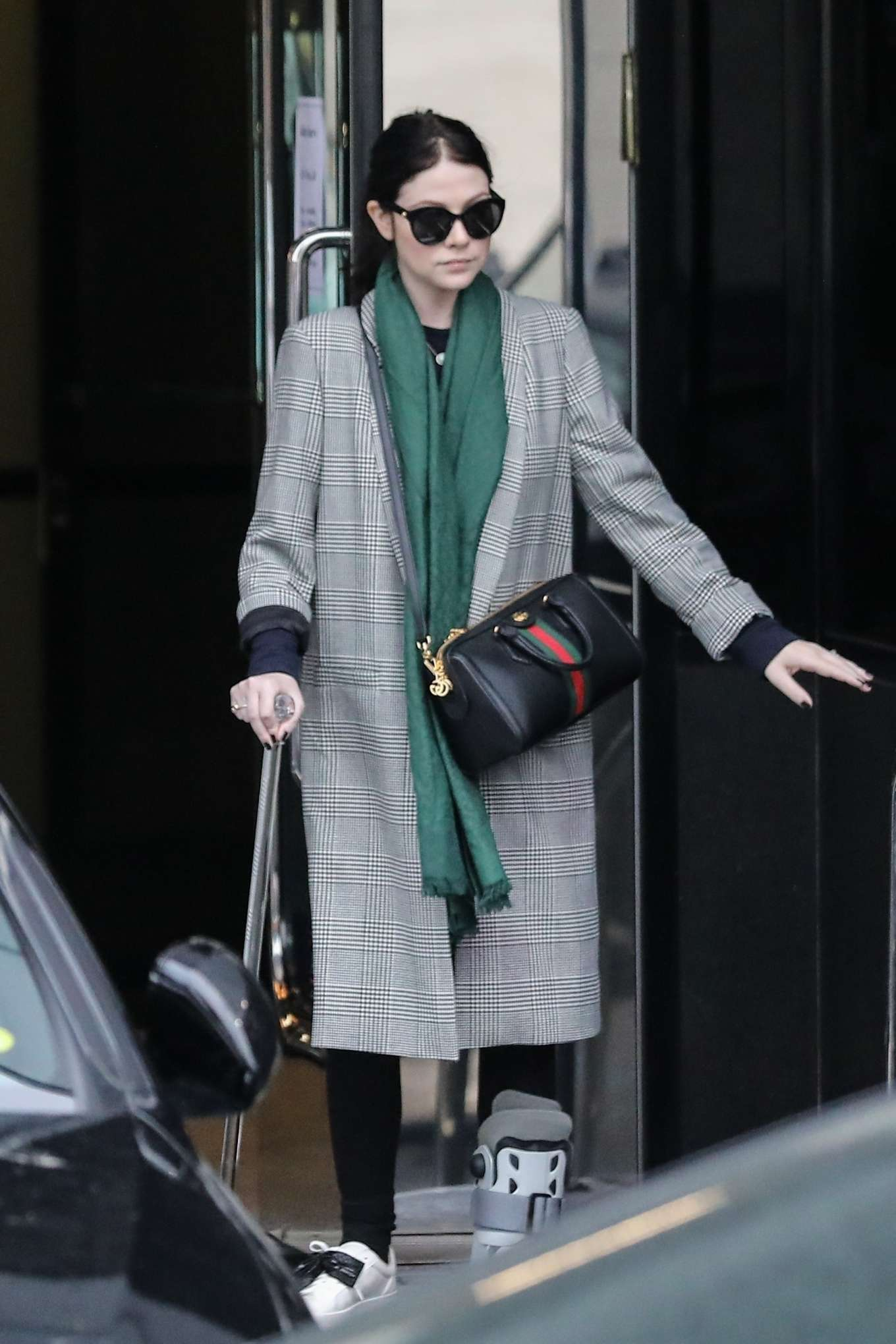 Michelle Trachtenberg 2019 : Michelle Trachtenberg in Long Coat – Christmas Shopping in Beverly Hills-19