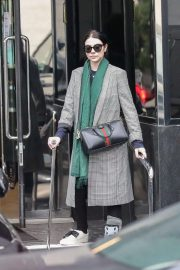 Michelle Trachtenberg in Long Coat - Christmas Shopping in Beverly Hills