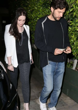 Michelle Trachtenberg - Leaves Ago Restaurant in West Hollywood