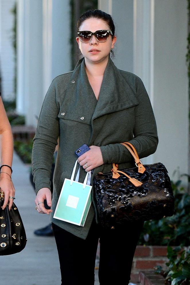 Michelle Trachtenberg - Leaves Kate Sommerville Skin Care in LA