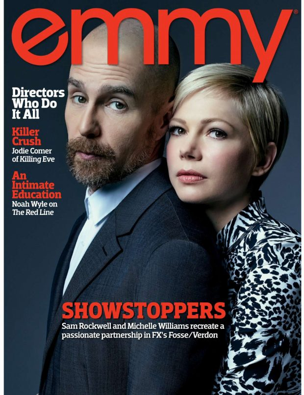 Michelle Williams and Sam Rockwell - Emmy Magazine (April 2019)