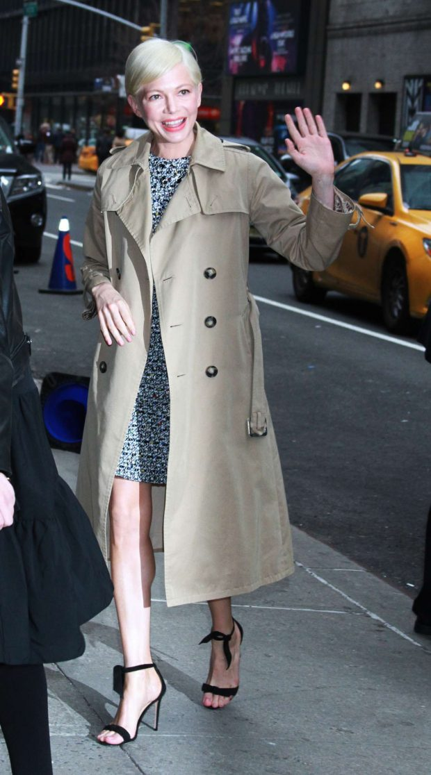 Michelle Williams - At The Late Show with Stephen Colbert in NYC